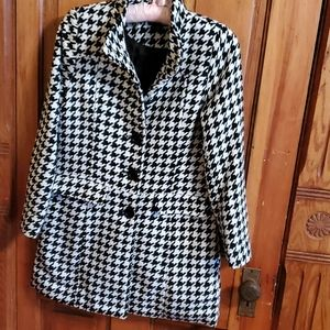 GEORGE  houndstooth peacoat